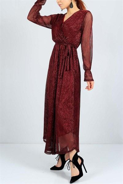 84 95 Tl Sim Detayli Kirmizi Bayan Sifon Elbise 23481b Modamizbir Sifon Elbise Elbise Mankenler