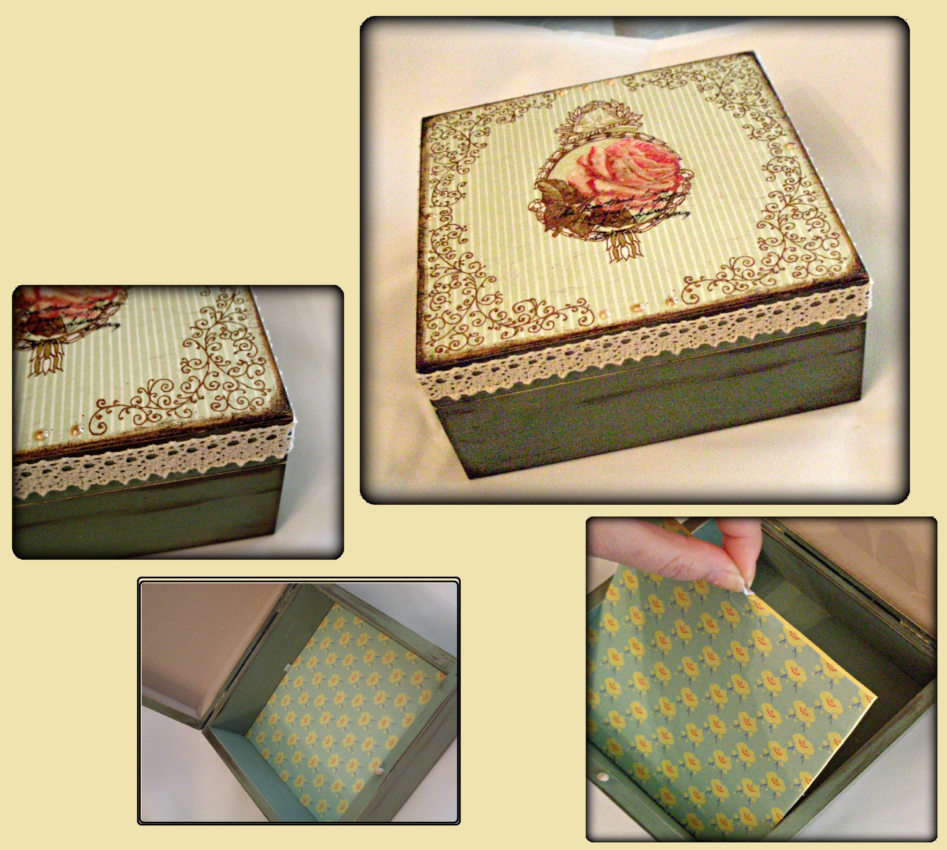 #wooden #box #vintage #retro #rose #decoupage #DIY  https://www.facebook.com/pages/Dimitras-Retro-Decoupage/532590893485180