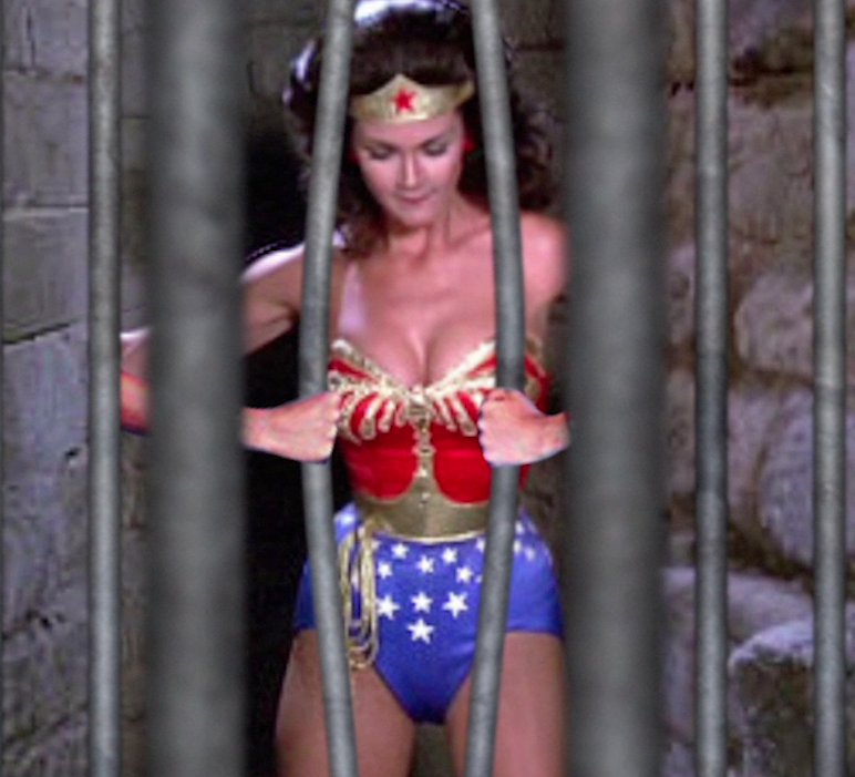 Wonder Woman Bends Bars Wonder Woman Lifted Cars Old Tv Shows