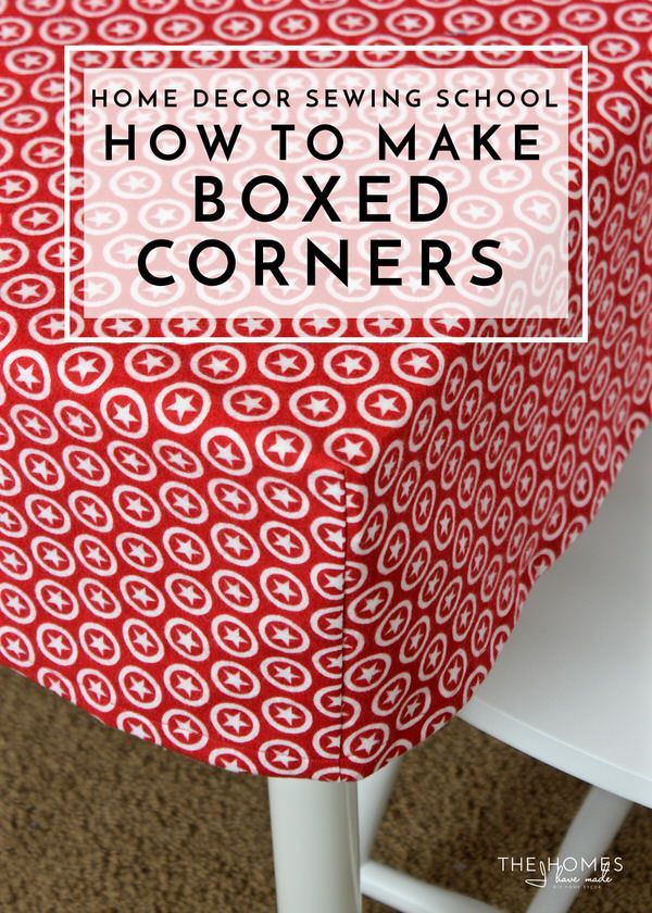 Learn the simple sewing technique for giving a flat piece of fabric boxed corners to fit over tables cushions and more!  sc 1 st  Pinterest & Home Decor Sewing School | Sewing techniques Tables and Corner