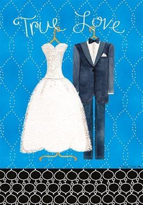 True Love Wedding House Flag Free Shipping