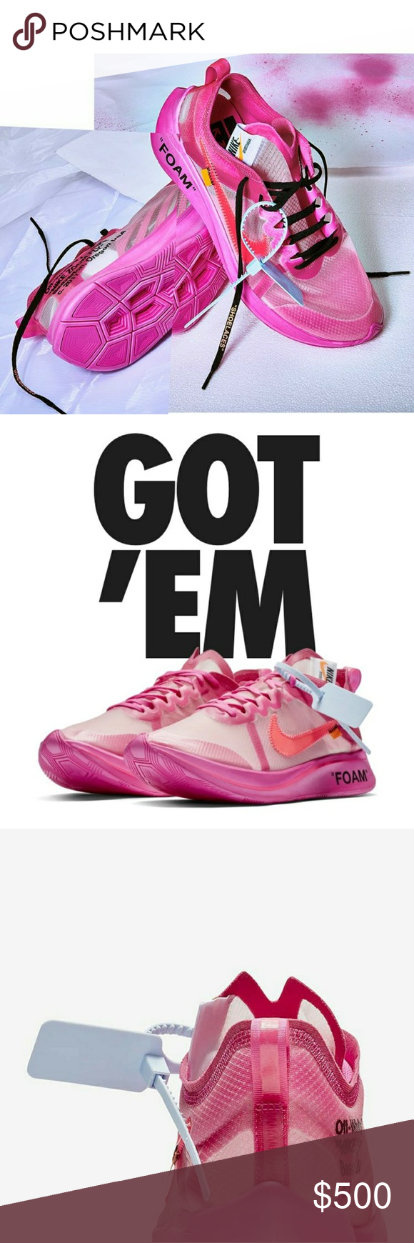 Nike Off White Zoom Fly exclusive 10.5 Brand new Nike Off