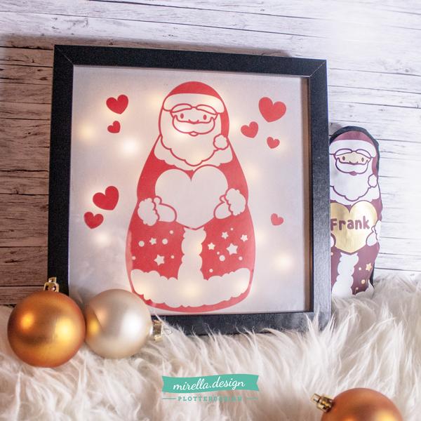 mirella.design: Weihnachtslicht mit Zucker und Plotter