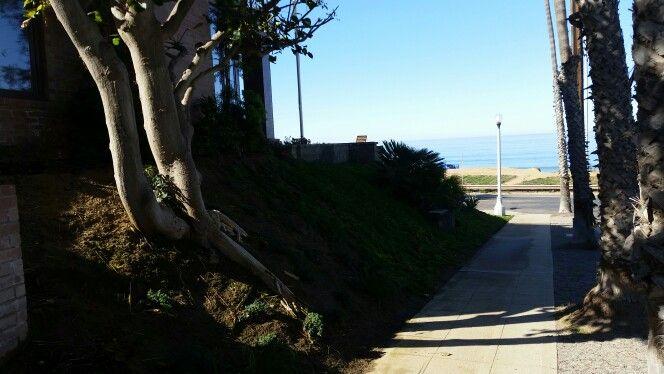 Side walk looking west