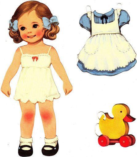 DIGITAL VINTAGE PAPER Doll Paper Mate PostCard by vintagelovesyou, $2.75