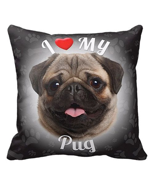Look at this iLeesh 'I Love My Pug' Throw Pillow on #zulily today!