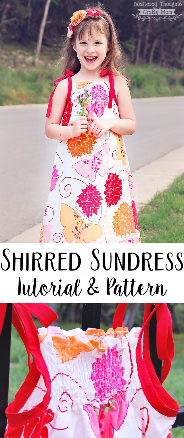40661a58982 Sew this super easy shirred sundress for your little one! (includes a  printable bodice pattern)
