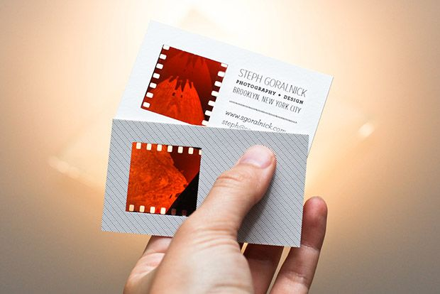 How To Make Your Own Photographic Negative Business Cards Business Card Tutorial Business Card Inspiration Business Card Design