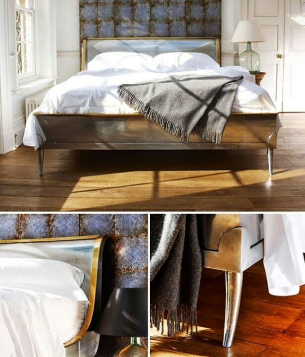 Metal Bed At And So To Bed New York Apartment Bedroom Modern Bed