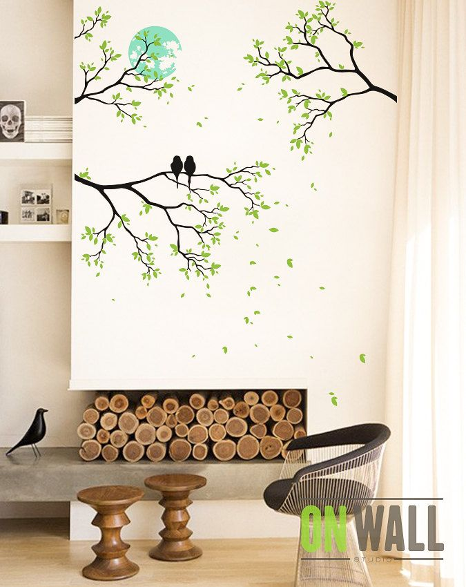 Romance De Minuit Fresque De Grosses Branches D Arbre Sticker