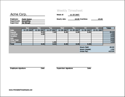 Weekly Timesheet Vertical Orientation Work Hours Entered Directly Printable Time Sheets Free To Download And Pr Printables Time And Motion Study Horizontal