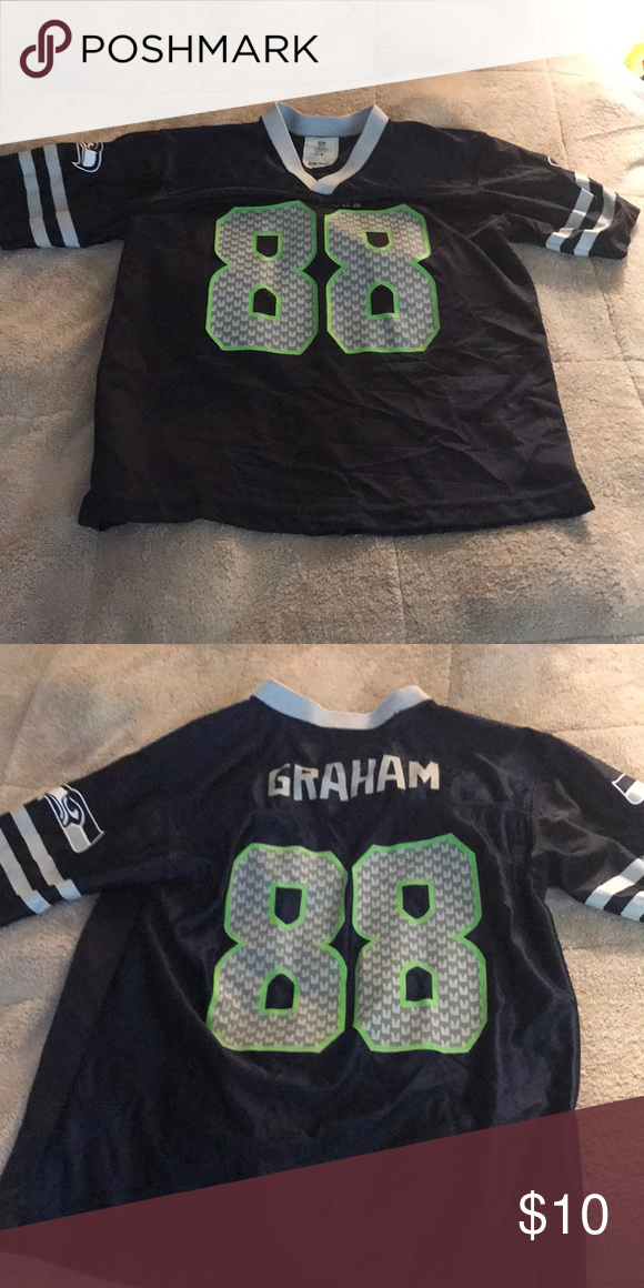 ad106068 Boys Youth Lg Seahawk jersey #88 Gently used jersey NFL Shirts ...