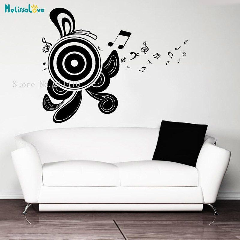 New Design Vinyl Wall Sticker Abstract Speakers Adesive De Parede