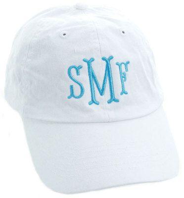 White Monogrammed Baseball Cap