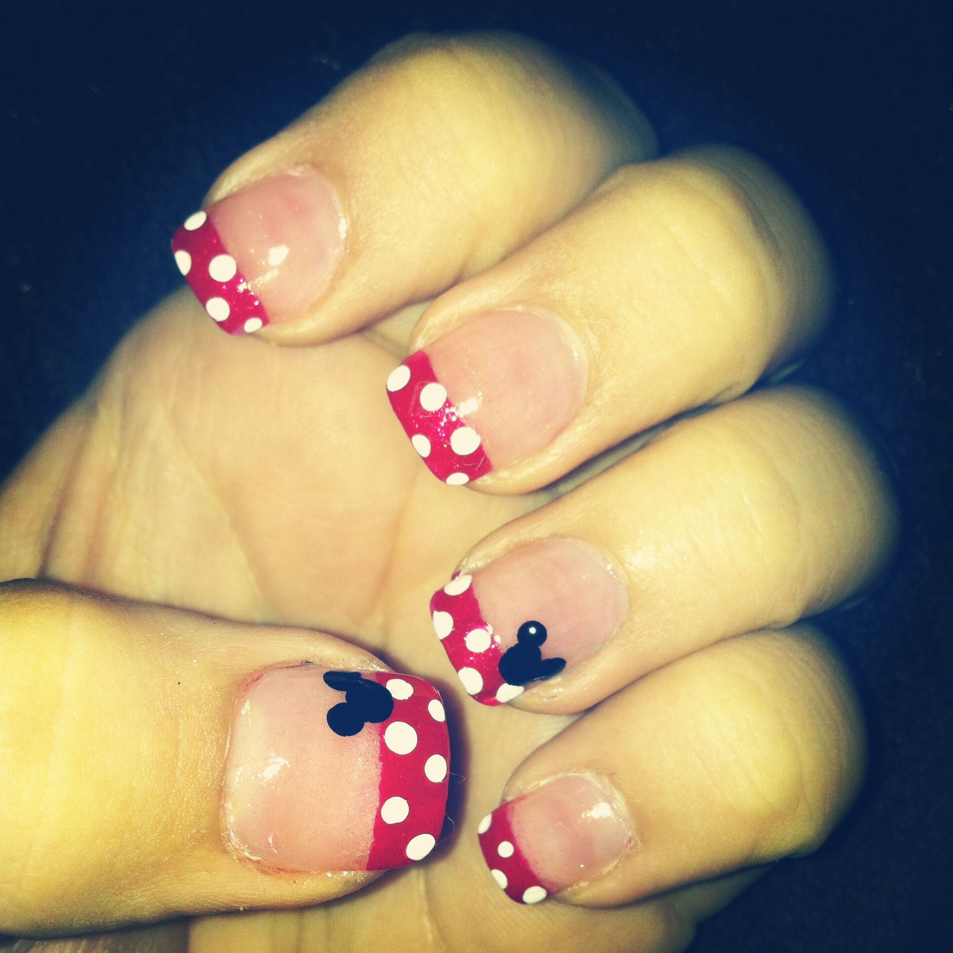 Mickey/Minnie Mouse Disney nails | My Life | Pinterest
