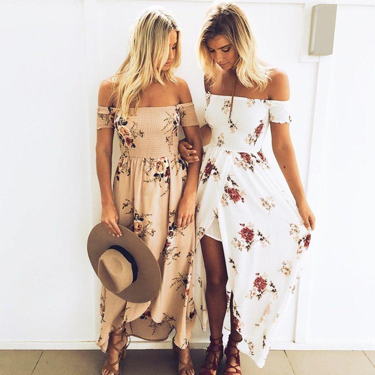 Boho Party Long Cocktail Beach Maxi Women Summer Evening Sundress Dresses Dress