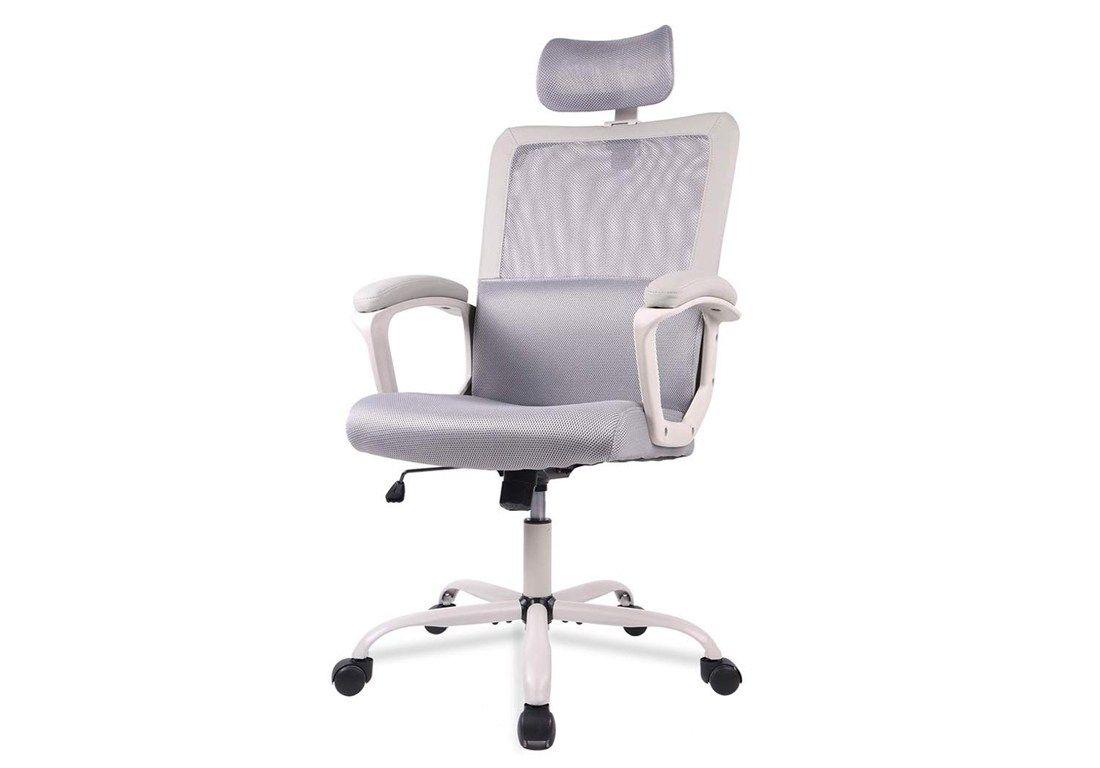 Computer task chair with adjustable headrest best