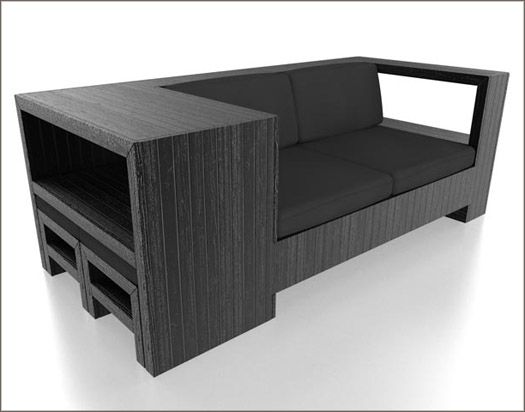 Stylish D I Y Shipping Pallet Furniture: Paint It Black!   I Didnu0027t Find
