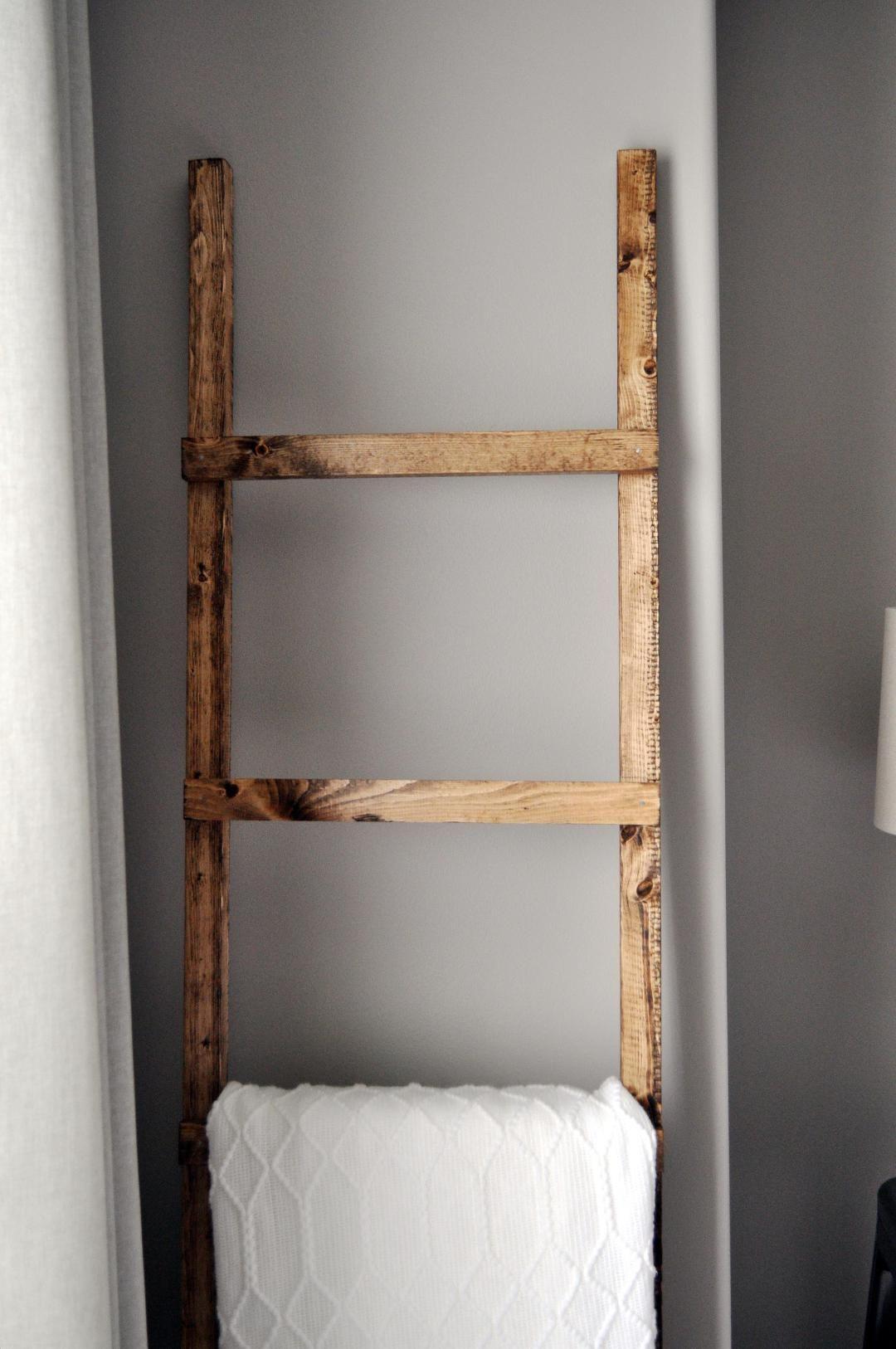 Rustic Blanket Ladder Decoration
