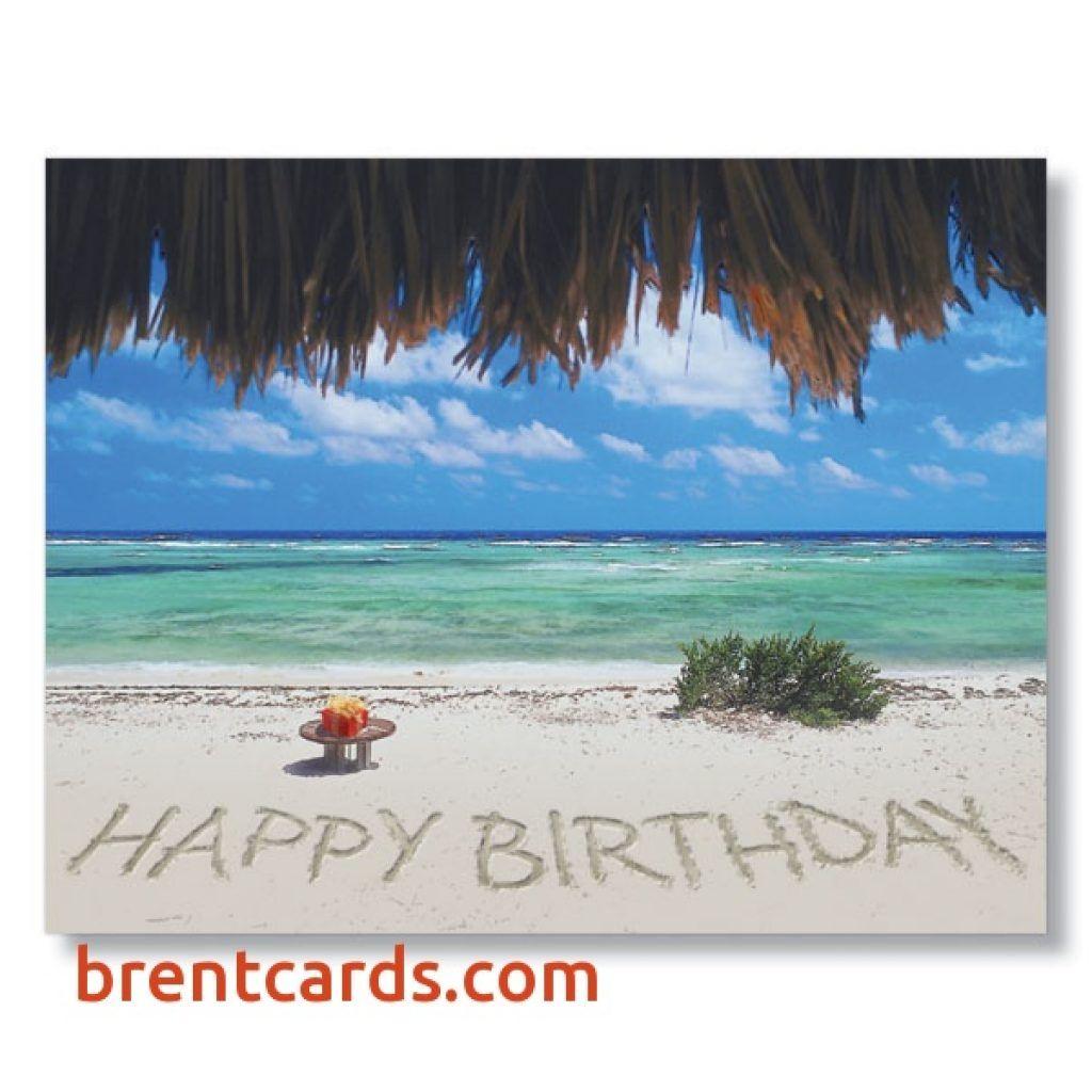 Tropical Birthday Card Unique Happy Birthday The Beach