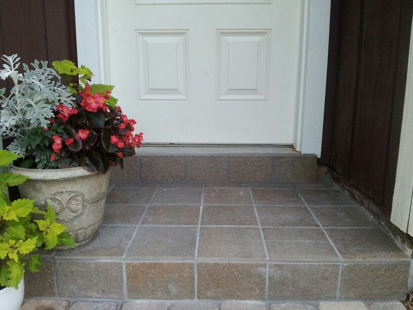 Pin By Elizabeth H On Front Doors Front Door Steps Tile Steps