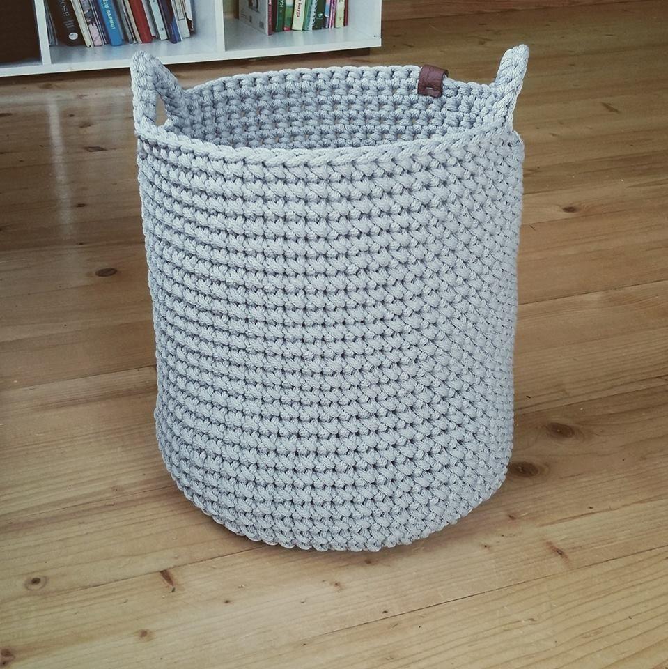 Crochet Basket Large Storage Basket Toys Basket Towel Basket