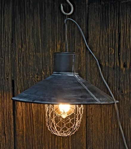New Primitive Farmhouse Industrial CHICKEN WIRE PENDANT