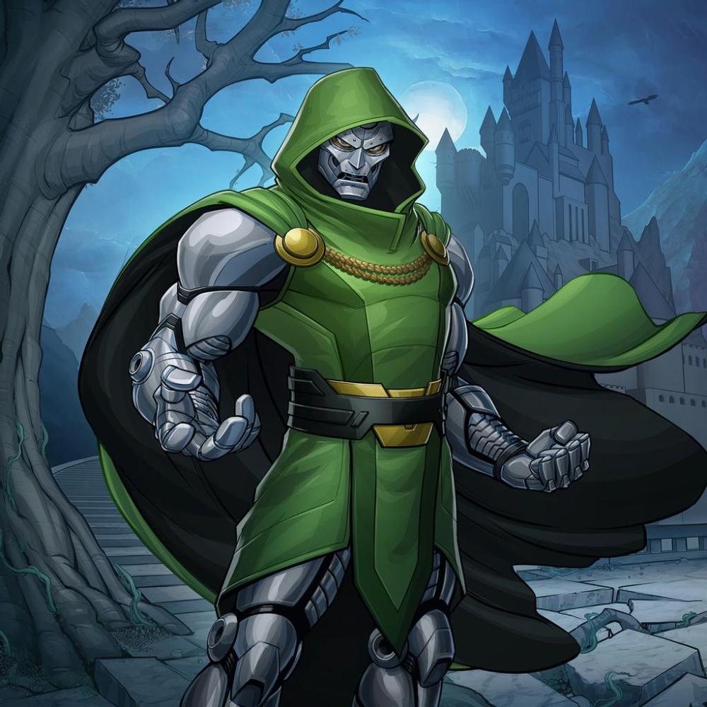 Dr Doom By Patrickbrown On Deviantart Doctor Doom Marvel Doom Epic Art