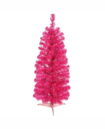 Vickerman 3 ft Pink Pencil Artificial Christmas Tree With ...