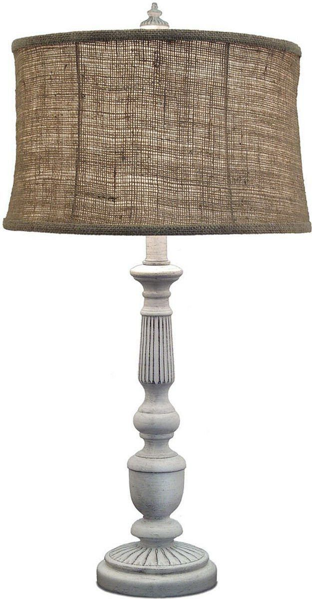 0 0166763 Way Table Lamp Distressed White