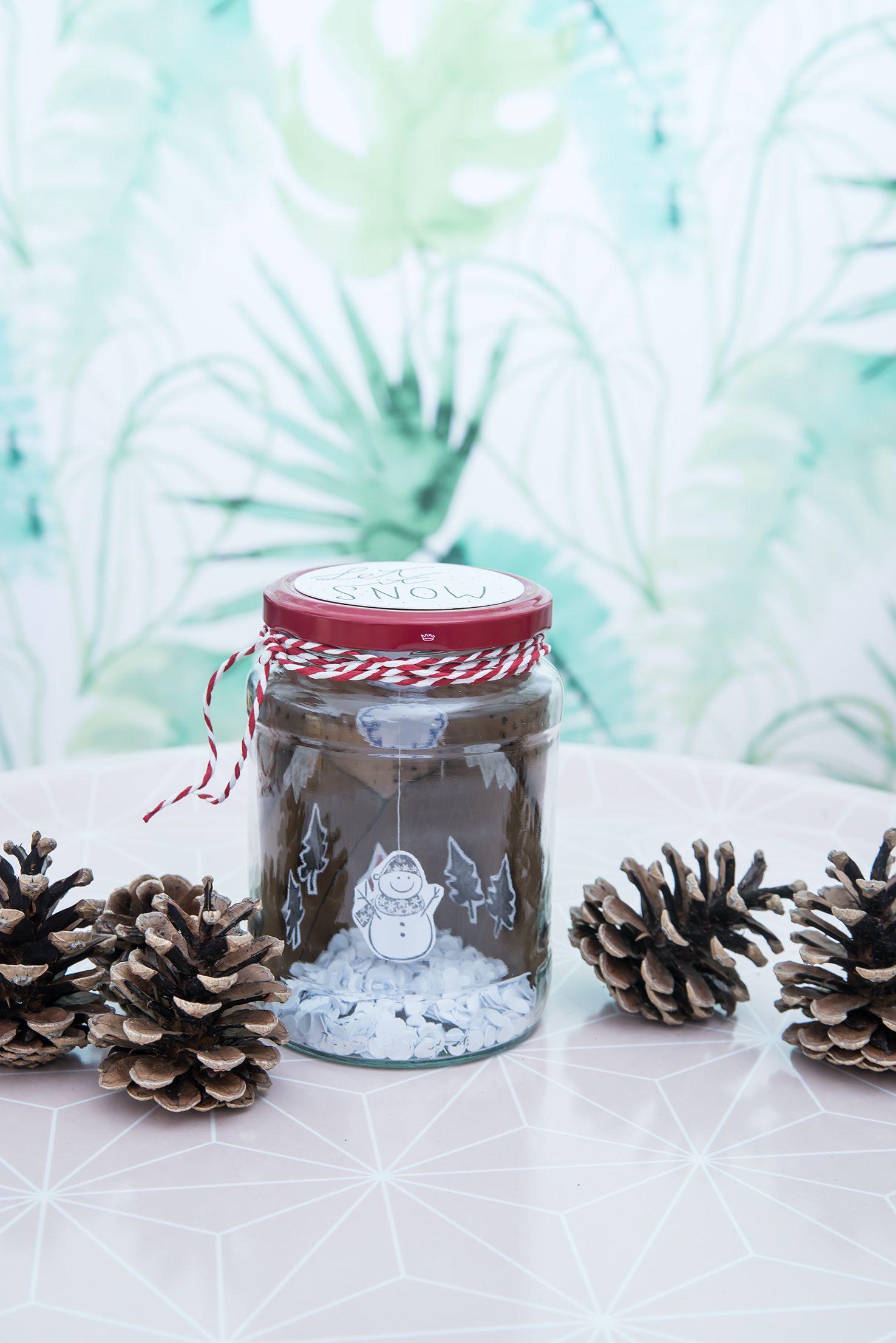 DIY Winterlandschaft im Glas