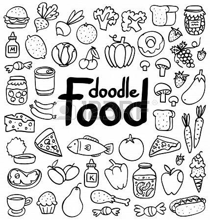 Food Doodle Artsy Stuff Pinterest Doodles Doodle Art And
