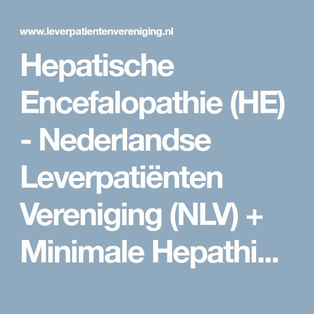 Hepatische Encefalopathie (HE) - Nederlandse Leverpatiënten ...