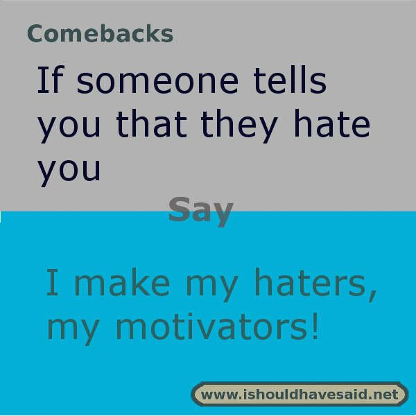 Comebacks for bullies