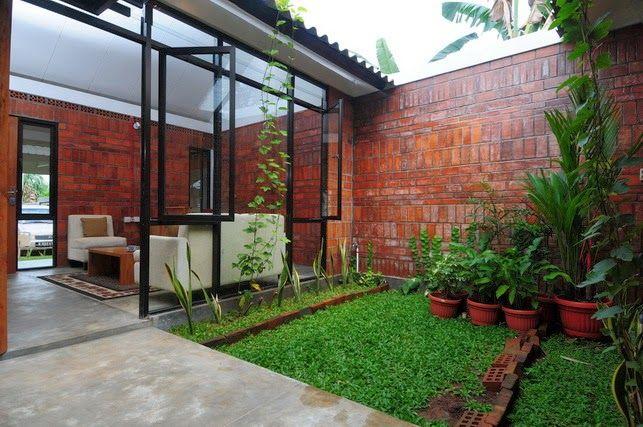 Desain Rumah Panggung Asri Google Search Patio Layout Backyard Design Backyard Layout
