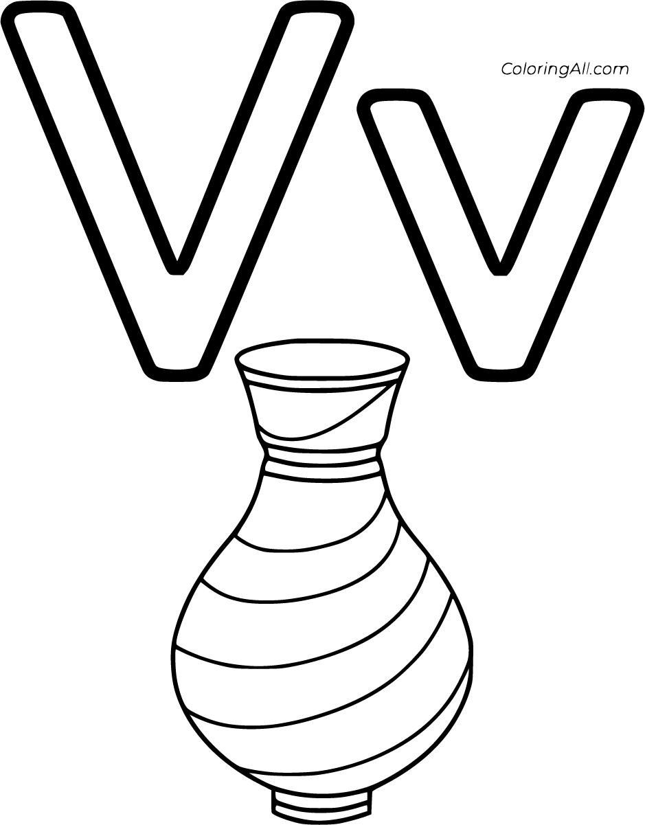 32 Free Printable Letter V Coloring Pages In Vector Format Easy To Print From Any Device And Automatically Fit Any Letter V Coloring Pages Easy Coloring Pages