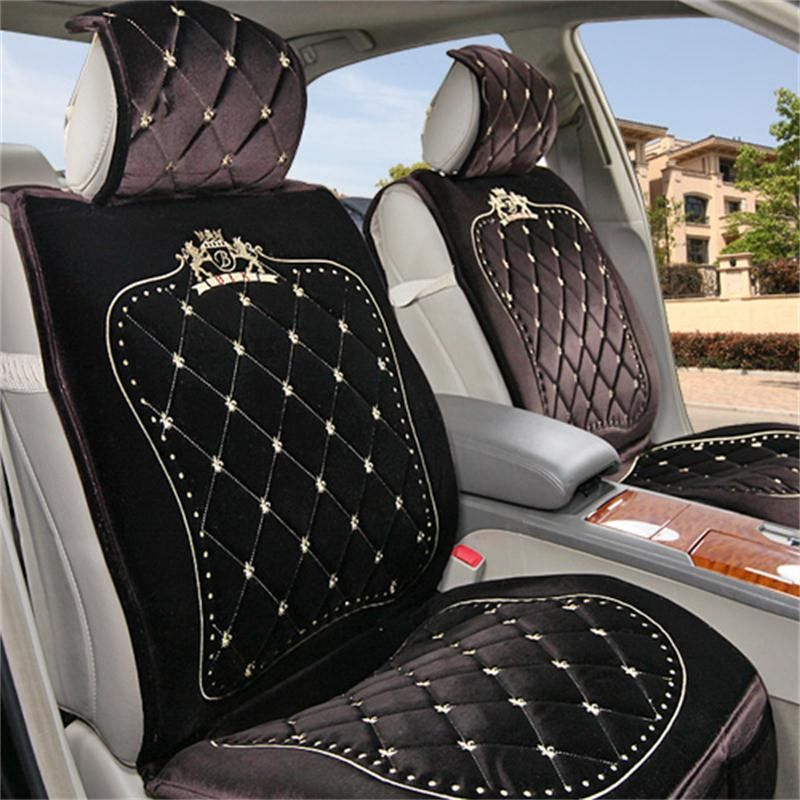 royal series luxurious design classic diamond patterns furry universal car seat covers royals. Black Bedroom Furniture Sets. Home Design Ideas