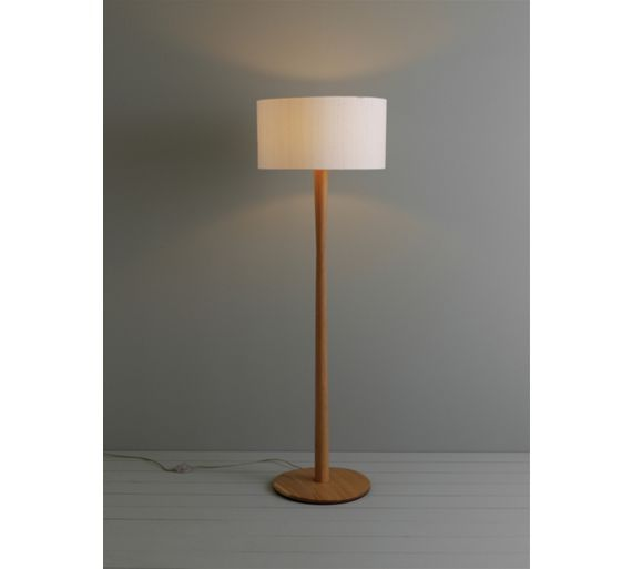 POLE Oak floor lamp | Buy now at Habitat UK