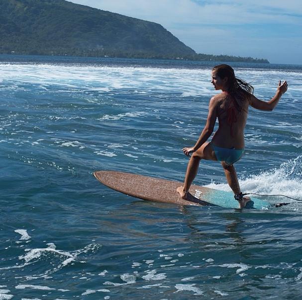 Slip, slide, ride, and glide. #JustPassingThrough #Tahiti