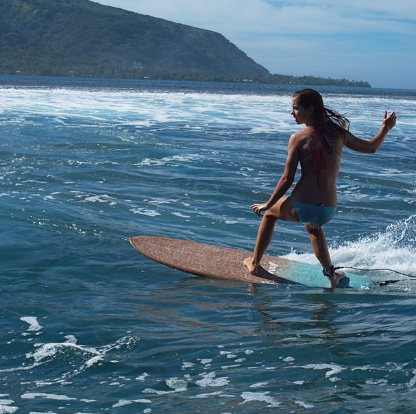 Slip, slide, ride, and glide. #JustPassingThrough #Tahiti