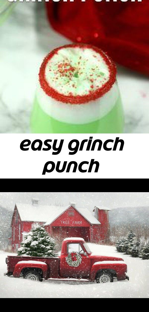 Easy grinch punch #grinchpunchrecipe