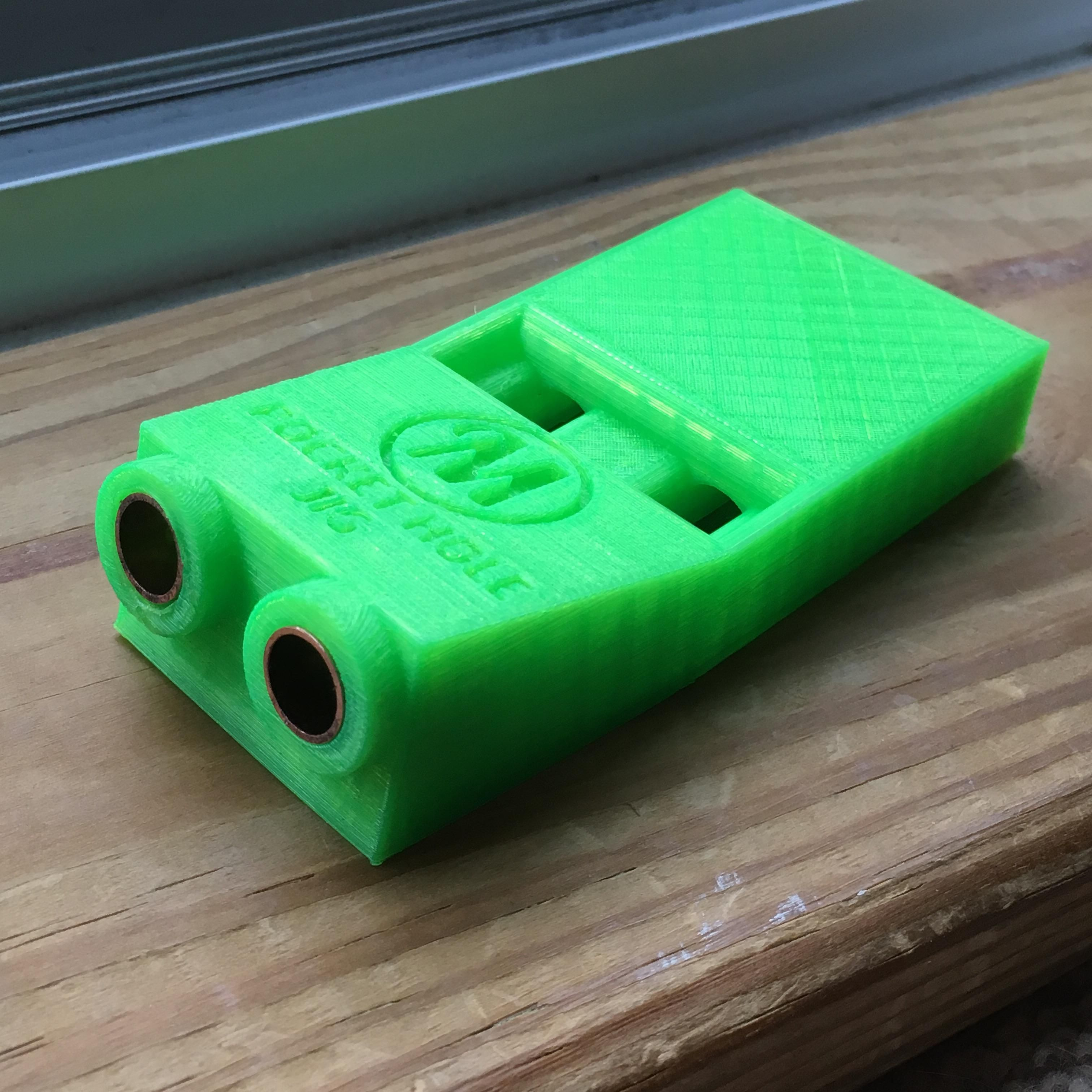 Didn't feel like buying a pocket hole jig, so I 3D printed one at the local makerspace (file from thingiverse)