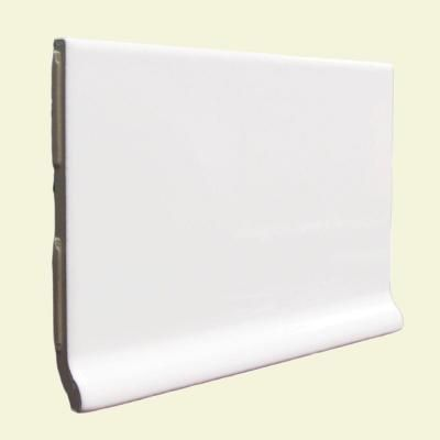ceramic tile color collection bright white ice in ceramic stackable cove base wall the home depot
