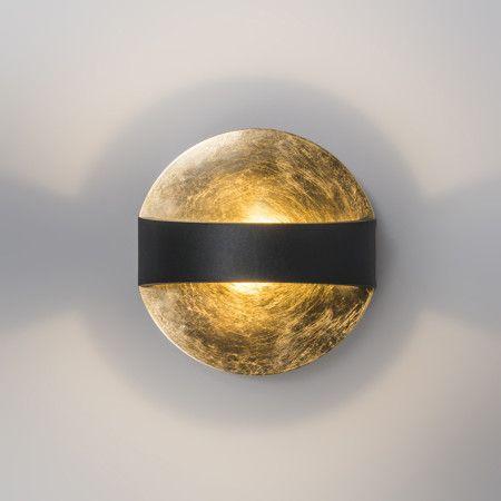 wandleuchte grip schwarz gold sch ne wandleuchte in kompaktem design aus aluminium gibt ein. Black Bedroom Furniture Sets. Home Design Ideas