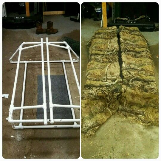 Diy goose blind made from pvc pipe hunting blinds for Pvc ground blind plans