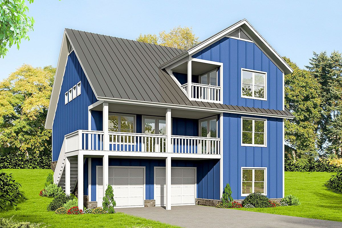 Plan 68578VR 3Bedroom House Plan with Two Master Suites
