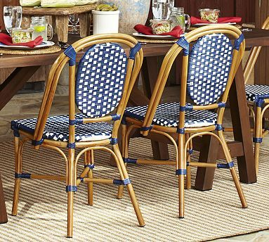 French Cafe Side Chair Potterybarn Wicker Dining Chairs