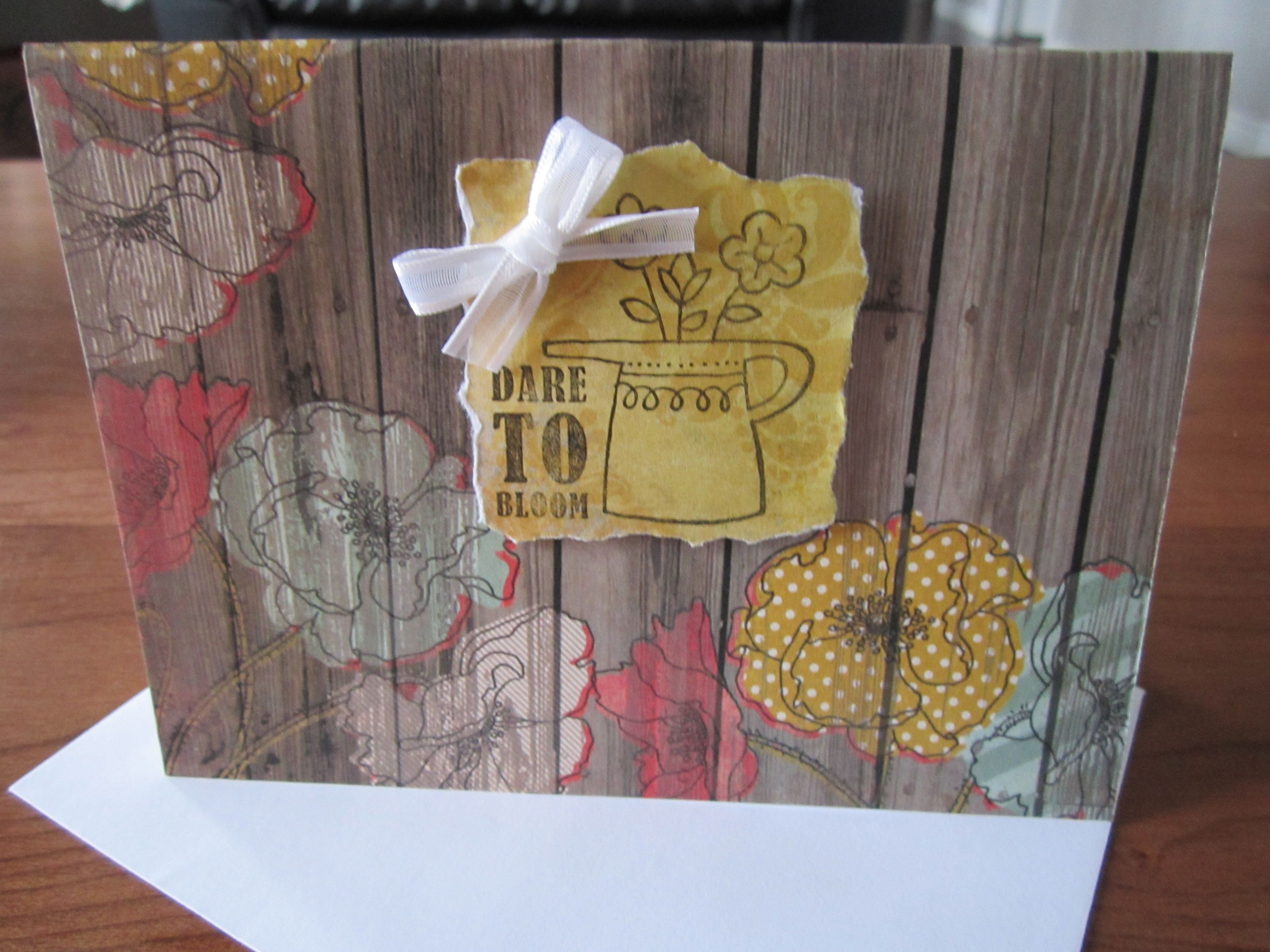 wedding invitations from michaels crafts%0A Simple card using scrap book paper  an inexpensive stamp from Michaels