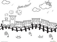 Train Track Outline Google Search Train Coloring Pages