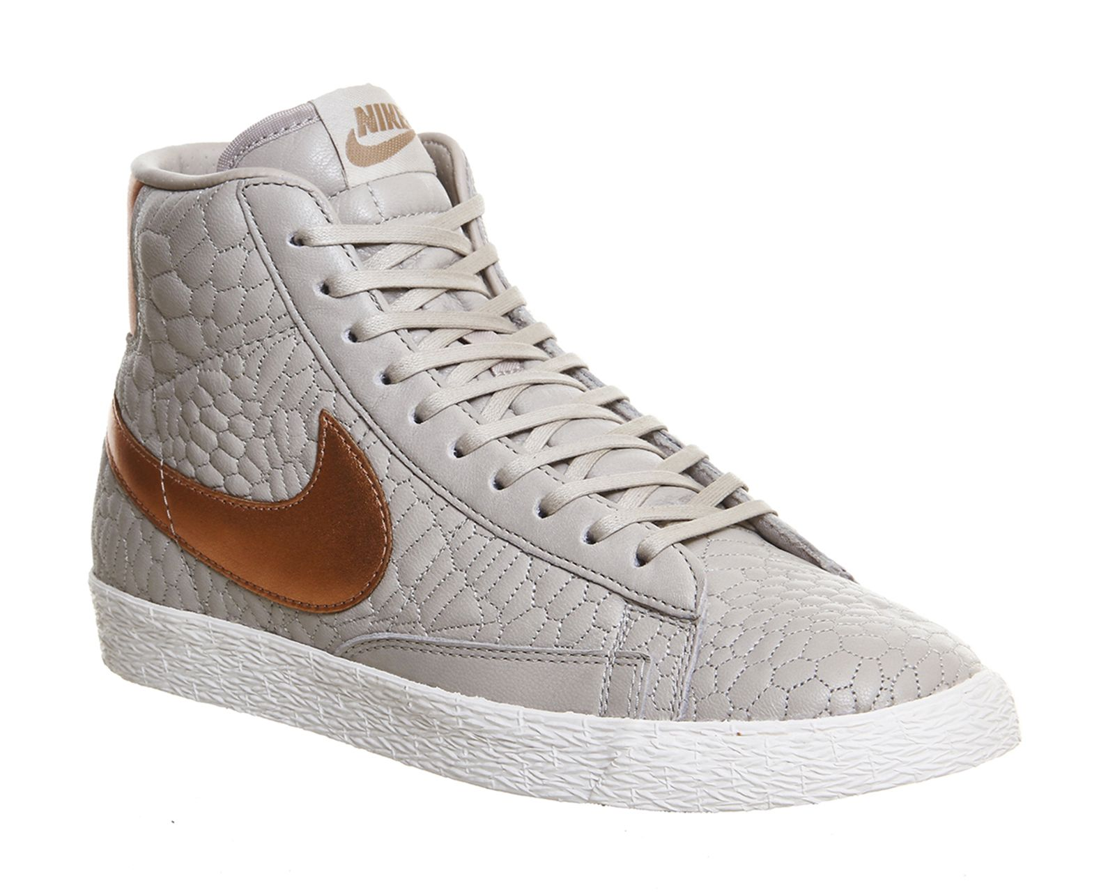 nike blazer mid grey rose gold quilted pack